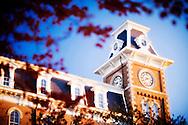 FAYETTEVILLE, AR;  Old Main building on the campus of the University of Arkansas in Fayetteville, Arkansas