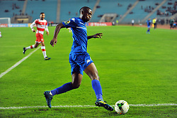 October 22, 2017 - Rades, Tunisia - Siyabonga Nhlapho(15)of Super Sport Utd during the Semi-final return of the CAF Cup between Club Africain (CA) and Supersport United FC of South Africa at the stadium of Rades  in Tunis..Club Africain lost (1-3) against the South African Super Sport Utd who will face TP Mazembe in the final. (Credit Image: © Chokri Mahjoub via ZUMA Wire)