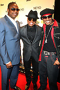 l to r: Dougie Fresh, Ne-Yo and Kangol Kid at Ne-Yo's 30th Birthday Party held at Cipariani's on 42 Street on October 17, 2009 in New York City