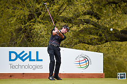 March 23, 2018 - Austin, TX, U.S. - AUSTIN, TX - MARCH 23: Bubba Watson hits a tee shot during the third round of the WGC-Dell Technologies Match Play on March 23, 2018 at Austin Country Club in Austin, TX. (Photo by Daniel Dunn/Icon Sportswire) (Credit Image: © Daniel Dunn/Icon SMI via ZUMA Press)