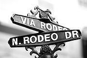 Rodeo Drive Street Sign In Los Angeles California