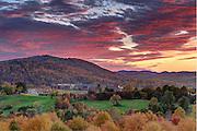 The sun sets over the Martha Jefferson Hospital in Charlottesville, VA. Photo/Andrew Shurtleff