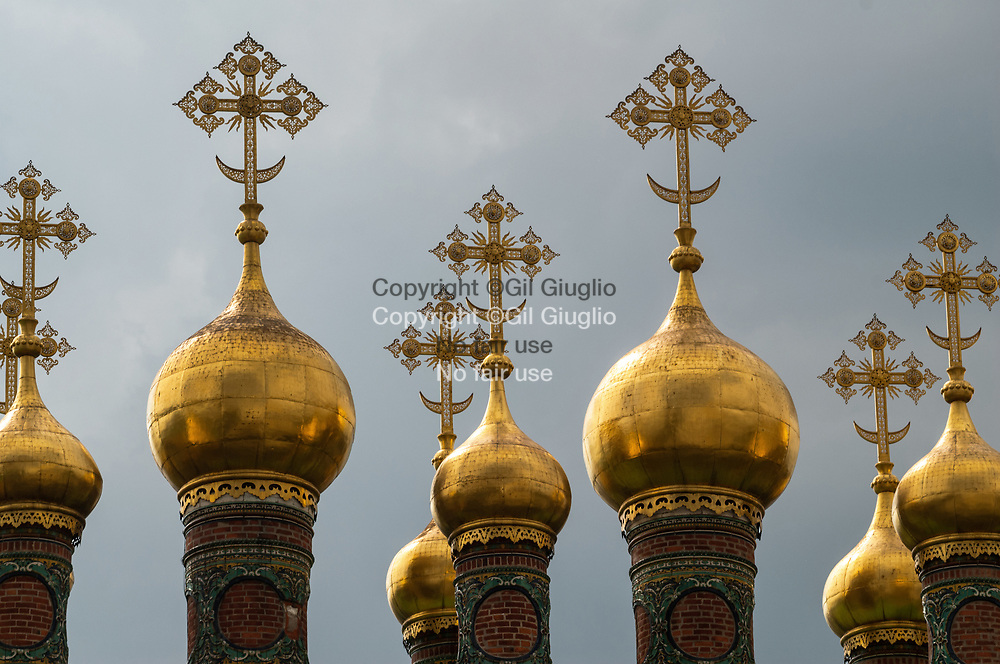 Russie, région de la Moscova, Mosou, enceinte du Kremlin, bulbes église de l'Archange Michel (1509) // Russia , region of Moscova, Moscow, in the Kremlin church's bulb of Archangel Michael (1509)