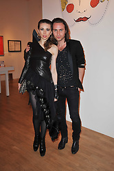 MALGOSIA STEPNIK and KRISTIAN ANDNEVIK at the TOD'S Art Plus Drama Party at the Whitechapel Gallery, London on 24th March 2011.
