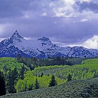 WYOMING. Pilot & Index Peaks below Beartooth Pass, on border of Yellowstone Nat. Park.