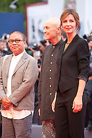 Fruit Chan, Jonathan Demme, Alix Delaport at the gala screening for the film Everest and opening ceremony at the 72nd Venice Film Festival, Wednesday September 2nd 2015, Venice Lido, Italy.