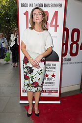 © Licensed to London News Pictures. 18/06/2015. London, UK. Victoria Derbyshire arrives at the press night for 1984 at the Playhouse Theatre, Northumberland Avenue in London tonight. Photo credit : Vickie Flores/LNP
