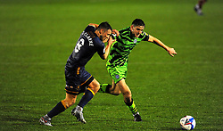 Ollie Clarke of Mansfield Town applies pressure on Liam Kitching of Forest Green Rovers- Mandatory by-line: Nizaam Jones/JMP - 14/11/2020 - FOOTBALL - innocent New Lawn Stadium - Nailsworth, England - Forest Green Rovers v Mansfield Town - Sky Bet League Two