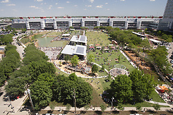 Stock photo of an aerial view of the Discovery Green Park