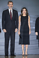 King Felipe VI of Spain, Queen Letizia of Spain attend Tribute Concert For Terrorism Victims at National Auditorium on March 7, 2019 in Madrid, Spain