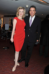 TIFFANY GRAVES and MICHAEL SISSONS at the What's On Stage Awards 2012 held at the Prince of wales Theatre, London on 19th February 2012.