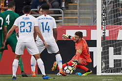 May 28, 2018 - Chester, PA, U.S. - CHESTER, PA - MAY 28: United States goalkeeper Alex Bono (22) dives to stop a shot during the international friendly match between the United States and Bolivia at the Talen Energy Stadium on May 28, 2018 in Chester, Pennsylvania. (Photo by Robin Alam/Icon Sportswire) (Credit Image: © Robin Alam/Icon SMI via ZUMA Press)