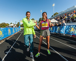 Boston Athletic Association Half Marathon, winners Lelisa Desisa, Mamitu Daska