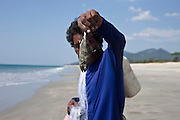 Fisherman in Nabula Beach, Tanintharyi Region, Burma.<br /> endless white sand can be found 18 kilometres north of Maungmagan. <br /> Note: These images are not distributed or sold in Portugal