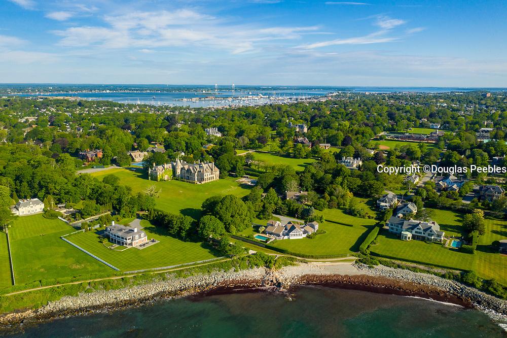 Cliff Walk, Mansions, Newport, Rhode Island, USA