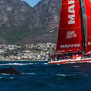 Leg 3, Cape Town to Melbourne, start day. Photo by Pedro Martinez/Volvo Ocean Race. 10 December, 2017.
