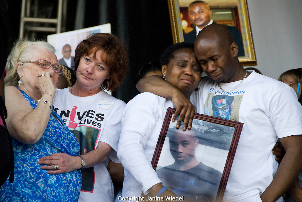Thousands marched through London with parents & families of murdered teen victims of gun and knife crime Sept 20th 2008.