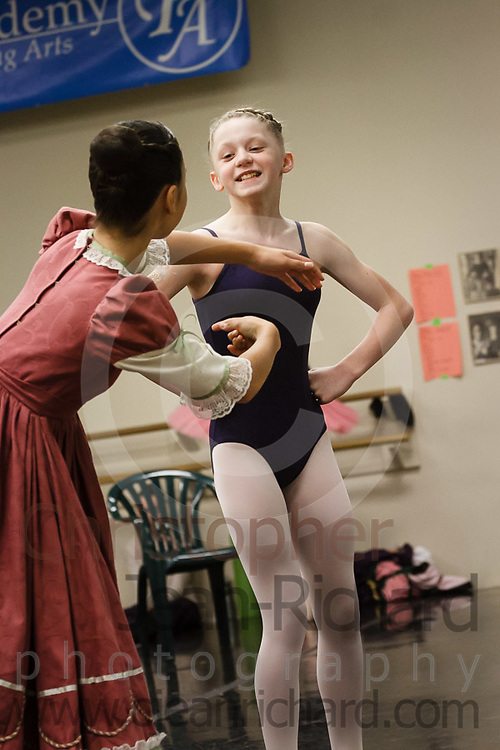 Students of the Payne Academy of Performing Arts in the final Studio Rehearsal of The Nutcracker.<br /> <br /> Payne Academy of Performing Arts.<br /> The Woodlands, Texas