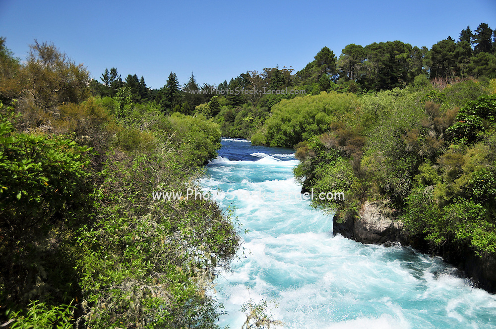 New Zealand, North Island, Rotorua, The Te Puia Geothermal Cultural Experience, flowing river