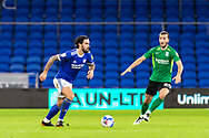 Cardiff City's Marlon Pack (21) under pressure from Birmingham City's Ivan Sunjic (34) during the EFL Sky Bet Championship match between Cardiff City and Birmingham City at the Cardiff City Stadium, Cardiff, Wales on 16 December 2020.