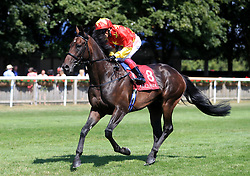 Raa Atoll ridden by Frankie Dettori goes to post