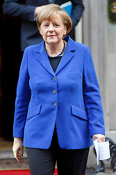 © licensed to London News Pictures. London, UK 27/02/2014. German Chancellor Angela Merkel leaving Downing Street after meeting British Prime Minister David Cameron on Thursday, 27 February 2014. Photo credit: Tolga Akmen/LNP