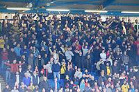 Lincoln City fans enjoy the pre-match atmosphere<br /> <br /> Photographer Chris Vaughan/CameraSport<br /> <br /> The EFL Sky Bet League One - Sheffield Wednesday v Lincoln City - Saturday 23rd October 2021 - Hillsborough Stadium - Sheffield<br /> <br /> World Copyright © 2021 CameraSport. All rights reserved. 43 Linden Ave. Countesthorpe. Leicester. England. LE8 5PG - Tel: +44 (0) 116 277 4147 - admin@camerasport.com - www.camerasport.com