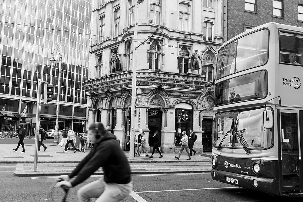 Street Scene in Dublin, Ireland.