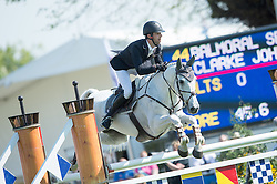 Johnstone Clarke, (NZL), Balmoral Sensation<br /> CCI4* - Mitsubishi Motors Badminton Horse Trials 2016<br /> © Hippo Foto - Jon Stroud