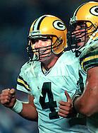 (1997)-Brett Favre celebrating a touchdown pass with Mark Chmura.