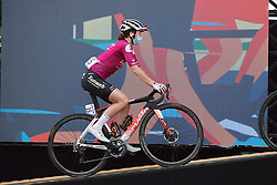 Liane Lippert (GER) rolls onto stage at the 2020 La Course By Le Tour with FDJ, a 96 km road race in Nice, France on August 29, 2020. Photo by Sean Robinson/velofocus.com