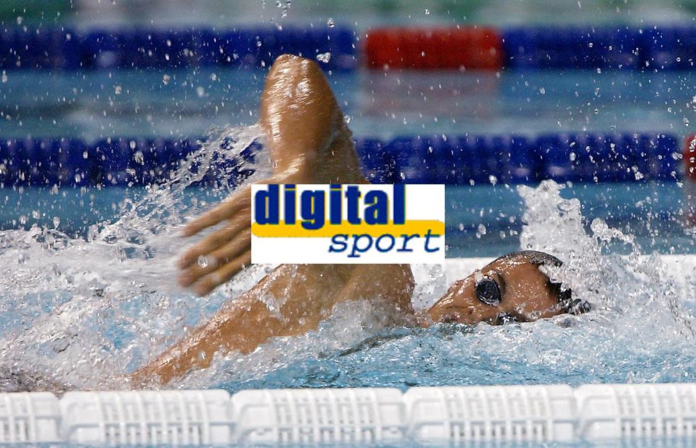 Svømming<br /> VM i svømming - synkronsvømming og stup 2003<br /> Foto: DPPI/Digitalsport<br /> <br /> NORWAY ONLY<br /> <br /> SWIMMING - FINA WORLD CHAMPIONSHIPS 2003 - BARCELONA (ESP) - 20/07/2003 - PHOTO: OLIVIER GAUTHIER / DPPI<br /> MEN 4X100M FREESTYLE - ALEXANDER POPOV (RUS) / GOLD MEDAL