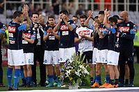 Napoli players donate flowers in memory of Davide Astori <br /> Firenze 29-04-2018 Stadio Artemio Franchi Football Calcio Serie A 2017/2018 Fiorentina - Napoli . Foto Andrea Staccioli / Insidefoto
