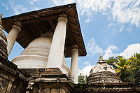 The Gadaladeniya Temple's design is of South Indian origin with a Devale attached to it, similar in character to the Natha Devale and the Gedige of Adahana Maluwa. The main shrine room has a seated Buddha statue and the remains of some paintings of the Gampola period.  A half day excursion called the 'Temple Loop' is a great way to sample the lovely rural surroundings of the Hill Capital.