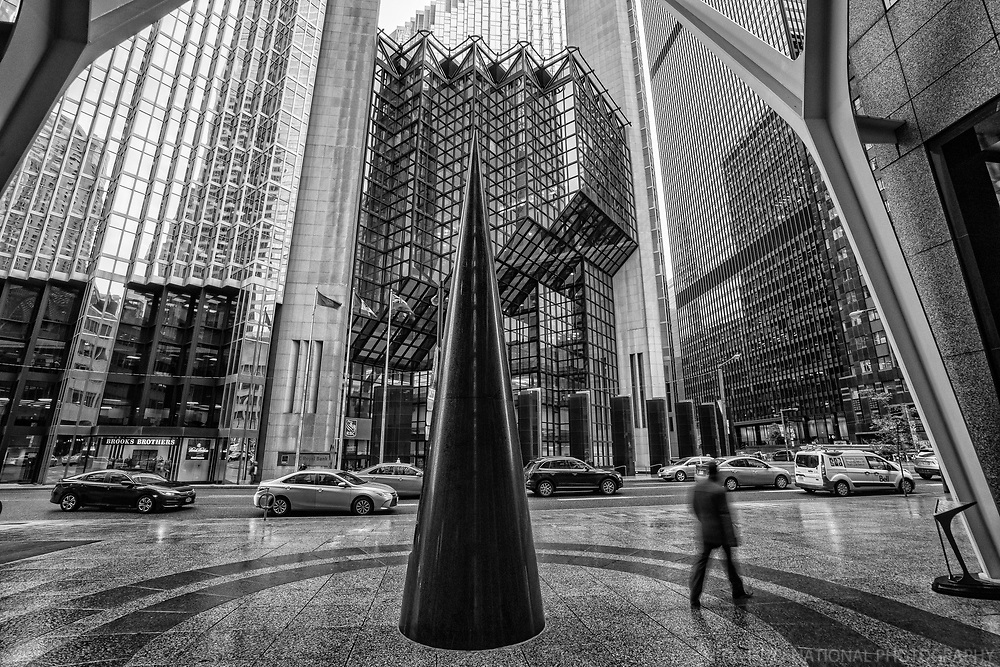 Royal Bank Plaza from Brookfield Place, Bay Street (monochrome)