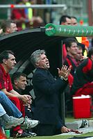 Milano, 3-10-04<br /> <br /> Campionato Serie A 2004-05<br /> <br /> Milan Reggina 3-1 <br /> <br /> nella  foto Carlo Ancelotti allenatore del Milan<br /> <br /> Milan Trainer Carlo Ancelotti<br /> <br /> Foto Snapshot / Graffiti