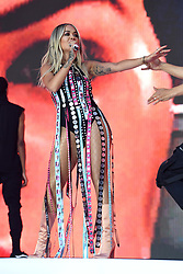 Rita Ora on stage during Capital's Summertime Ball. The world's biggest stars perform live for 80,000 Capital listeners at Wembley Stadium at the UK's biggest summer party. Picture Credit Should Read: Doug Peters/EMPICS