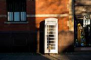 25 January 2017: KCOM cream telephone boxes that are unique to Hull, East Yorkshire. Seven of them have listed status including this one in Coltman Street near the corner with Hessle Road.<br /> Picture: Sean Spencer/Hull News & Pictures Ltd<br /> 01482 210267/07976 433960<br /> www.hullnews.co.uk         sean@hullnews.co.uk