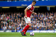 Granit Xhaka of Arsenal in action. Premier league match, Chelsea v Arsenal at Stamford Bridge in London on Sunday 17th September 2017.<br /> pic by Kieran Clarke, Andrew Orchard sports photography.