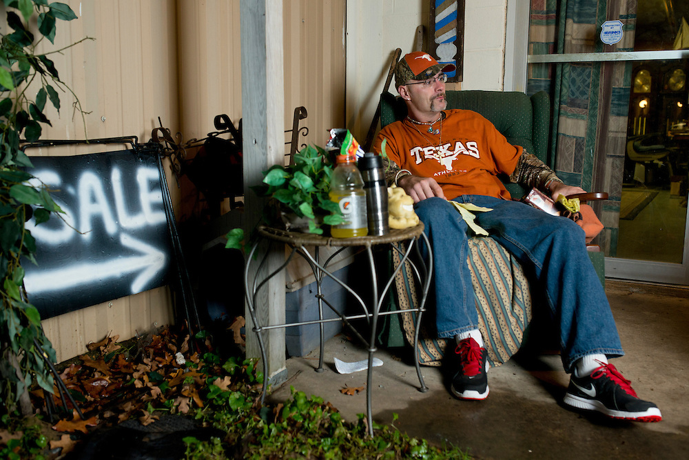 David Conis, Jr. photographed at his home in Kemp, Texas on January 9, 2014. (Cooper Neill / for The Texas Tribune)