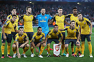 the Arsenal team pose for a team photograph before k/o. UEFA Champions league group A match, Arsenal v FC Basel at the Emirates Stadium in London on Wednesday 28th September 2016.<br /> pic by John Patrick Fletcher, Andrew Orchard sports photography.