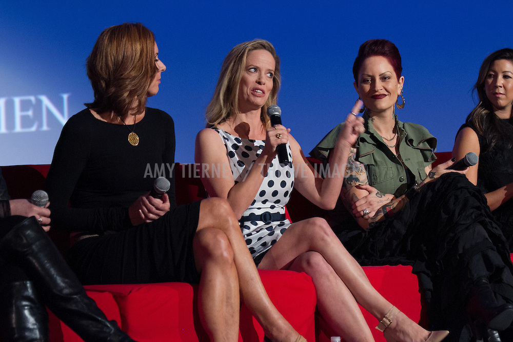 Katherine Twells, AVP of Customer Marketing for Wetern US, Coca-Cola, Halle Stanford, EVP Children's Programming, Jim Henson Company and Dana Michelle Coo, Producer, The Empowerment Project