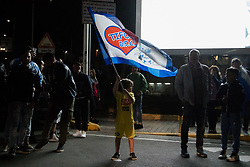 April 22, 2018 - Naples, Italy - Neapoletan Supporters to Capoldichino Airport Celebrations after the victory of SSC Napoli against Juventus, in Naples, Italy, on April 22, 2018. (Credit Image: © Paolo Manzo/NurPhoto via ZUMA Press)