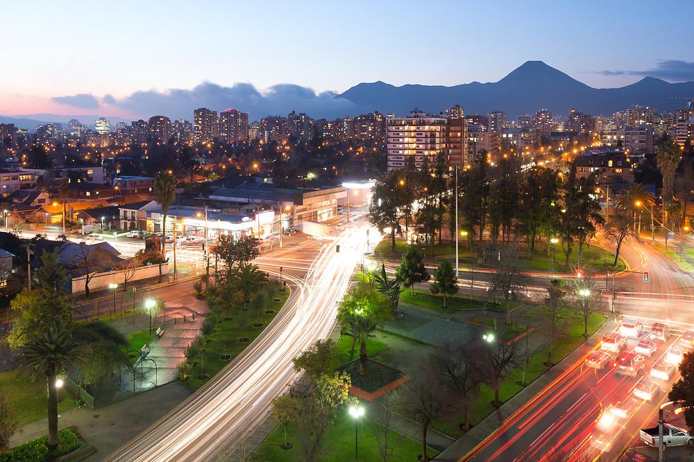 Residential neighborhood at Las Condes district, Santiago de Chile