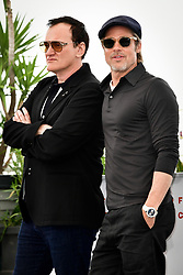 """""""Once Upon A Time In Hollywood"""" Photocall - The 72nd Annual Cannes Film Festival. 22 May 2019 Pictured: Brad Pitt and Director Quentin Tarantino. Photo credit: Daniele Cifalà / MEGA TheMegaAgency.com +1 888 505 6342"""