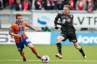 Fotball , 3 April 2016 , Tippeligaen , Eliteserien , Aalesund - Brann , Erik Huseklepp , Bjørn Helge Semundseth Riise<br /> <br /> Foto: Marius Simensen, Digitalsport