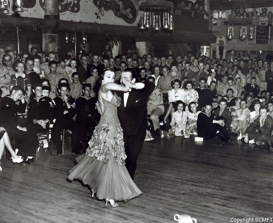 1944 Veloz & Yolanda dance for servicemen at the Hollywood Canteen