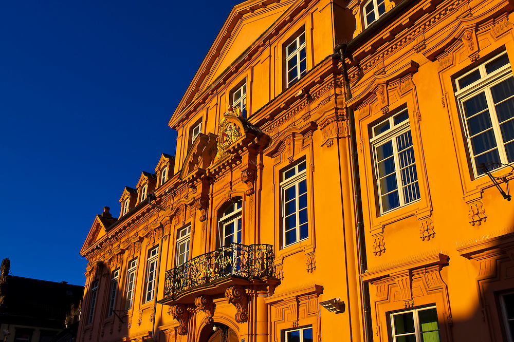 Konigshof (a former Royal Palace designed by Michael Ludwig Rohrer, now a police station), Offenburg, Baden-Württemberg, Germany