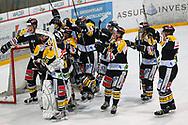 05.03.2011, Wetzikon, Eishockey 1. Liga, Wetzikon - Weinfelden, Jubel nach Spielende  (Thomas Oswald/hockeypics)