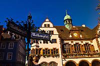 Town Hall (Rathaus), Freiburg, Baden-Württemberg, Germany